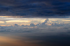 Spectacular clouds at 4000 metres. Spectacular view of layers of clouds from 4000 meters above sea level at the summit of Mount Kinabalu, Sabah Malaysia during Stock Images