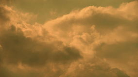 Spectacular clouds cover sky,Altocumulus,dusk. stock footage