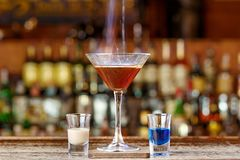 Spectacular Cocktail With Fire Royalty Free Stock Photos
