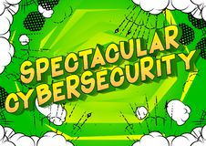 Spectacular Cybersecurity - Comic book style words. vector illustration