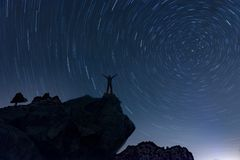 spectacular dance circles in the sky Stock Image