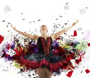 Spectacular dancer Stock Images