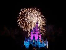 Spectacular de nuit de souhaits photos libres de droits