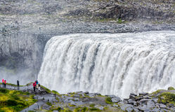 Spectacular Dettifoss waterfall in Iceland in summer Stock Photos