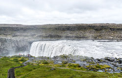 Spectacular Dettifoss waterfall in Iceland in summer