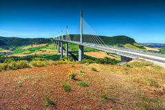 Spectacular famous viaduct of Millau,Aveyron region,France,Europe Stock Images