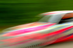 Spectacular fast moving car Stock Images