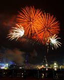 Spectacular fireworks Royalty Free Stock Photography