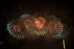 Spectacular fireworks Stock Photo