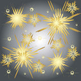 Spectacular fireworks gold. Abstract background - golden fireworks spectacular Stock Photo