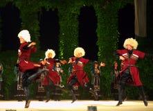 Spectacular Georgian male dance Stock Photos