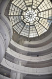Spectacular Glass Ceiling & Spiral Walls of Guggenheim Museum Stock Image