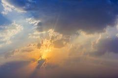 Spectacular golden sunset Royalty Free Stock Photos