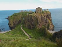 The spectacular gothic Dunnottar Castle, The Highlands Scotland royalty free stock photos