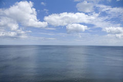 Spectacular horizon view. Over endless water royalty free stock photography