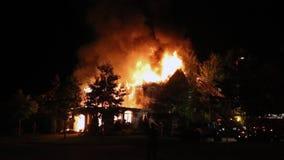 Spectacular house fire.