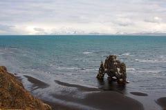 Spectacular Icelandic coastline with Hvitserkur rock Stock Images