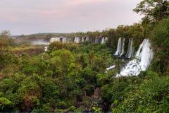 Spectacular Iguazu Falls bordering Brazil and Argentina Stock Photography
