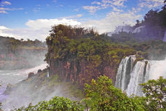 Spectacular Iguazu Falls in South America Royalty Free Stock Images