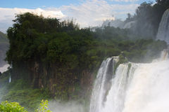 The Spectacular Iguazu Falls in South America Royalty Free Stock Photo