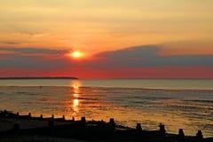 Spectacular kent sunset Stock Photo
