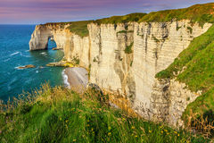 Spectacular la Manneporte natural rock arch wonder,Etretat,Normandy,France Royalty Free Stock Photo