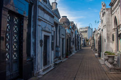 Spectacular La Recoleta cemetery in Buenos Aires, Argentina Stock Photo