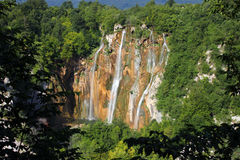 Spectacular landscape in Plitvice National Park Stock Photography