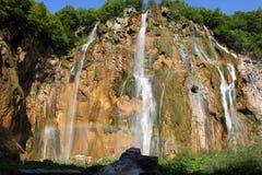 Spectacular landscape in Plitvice National Park Stock Image