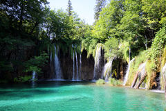 Spectacular landscape in Plitvice National Park Royalty Free Stock Photos