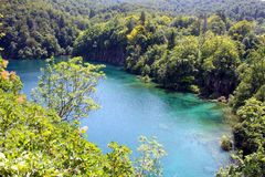 Spectacular landscape in Plitvice National Park Royalty Free Stock Image