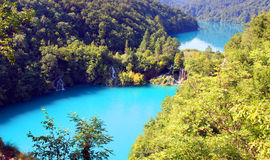 Spectacular landscape in Plitvice National Park Royalty Free Stock Images