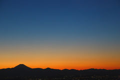 Spectacular light after sunset in Tokyo, Japan Royalty Free Stock Photo