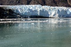 Spectacular Margerie glacier stock image