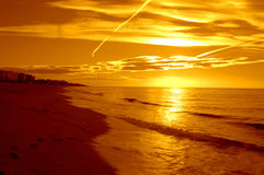Spectacular Mediterranean beach sunrise Royalty Free Stock Photo