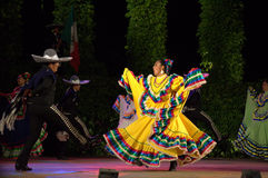 Spectacular Mexican dancers Royalty Free Stock Images