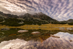 Spectacular mountain scenery in the Alps, with sea of clouds Stock Photo