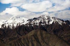 Spectacular mountain scenery Himalaya Range background , Leh-Ladakh, Jammu & Kashmir, Northern India Royalty Free Stock Photo