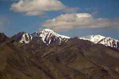Spectacular mountain scenery Himalaya Range background , Leh-Ladakh, Jammu & Kashmir, Northern India Stock Photography