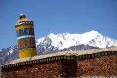 Spectacular mountain scenery Himalaya Range background , Leh-Ladakh, Jammu & Kashmir, Northern India Royalty Free Stock Image