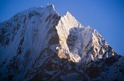 Himalaya Mountains. Spectacular mountain scenery on the Mount Everest Base Camp trek through the Himalaya, Nepal royalty free stock photos