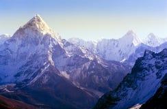 Himalaya Mountains. Spectacular mountain scenery on the Mount Everest Base Camp trek through the Himalaya, Nepal stock photography