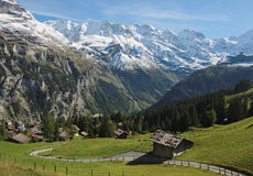 Spectacular Mountain Views Between Murren And Allmendhubel (Berner Oberland, Switzerland) Royalty Free Stock Photos