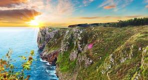 Spectacular mountains on the Spanish coast Royalty Free Stock Image