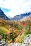 Spectacular mountains with valleys in fall season at Glencoe, Sc stock photo