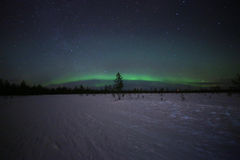 Spectacular northern lights in Finnish Lapland royalty free stock photography