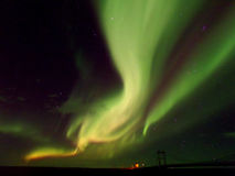 Spectacular Northern Lights flashing on the Autumn Sky Stock Photo