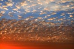 Spectacular orange sunset Stock Images