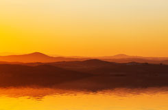 Spectacular orange sunset Royalty Free Stock Photos