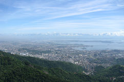 Spectacular panorama and aerial city view of Rio de Janeiro, Brazil Stock Images